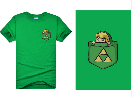 f797cef4 Green Game The Legend Of Zelda Link T shirts Cotton Cosplay Triforce  Pattern Short Sleeve O Neck Tee Shirts For Adult Tops-in T-Shirts from Men's  Clothing ...
