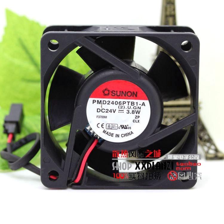 original Sunon PMD2406PTB1-A 24V 3.8W 6CM 6025 inverter fan