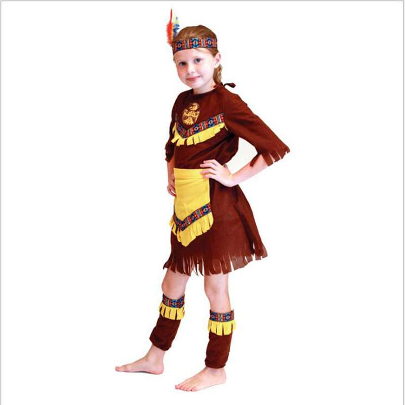 Girls Show Children's Halloween Costumes Indian Girl Costume Party Cosplay  Costume(China) - Online Get Cheap Indian Girl Halloween Costume -Aliexpress.com