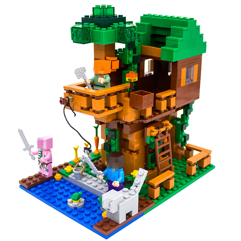 gifts 18009 Compatible Legoing Minecraft 21125 The Jungle Tree House on wooden doll house plans, toy wood plans, toy dog house plans, toy school house plans, toy boat plans, toy castle plans, deck plans, toy wooden tree houses, toy dollhouse furniture, tiny house plans, toy kitchen plans, wooden toy airplane plans, toy train plans,