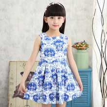Girls dresses cotton sleeveless summer print children clothing baby dress 4-12 years girls clothes girls summer dresses kids print sundress for child clothes teenager print sleeveless dress infant clothing 6 8 10 12 13 years