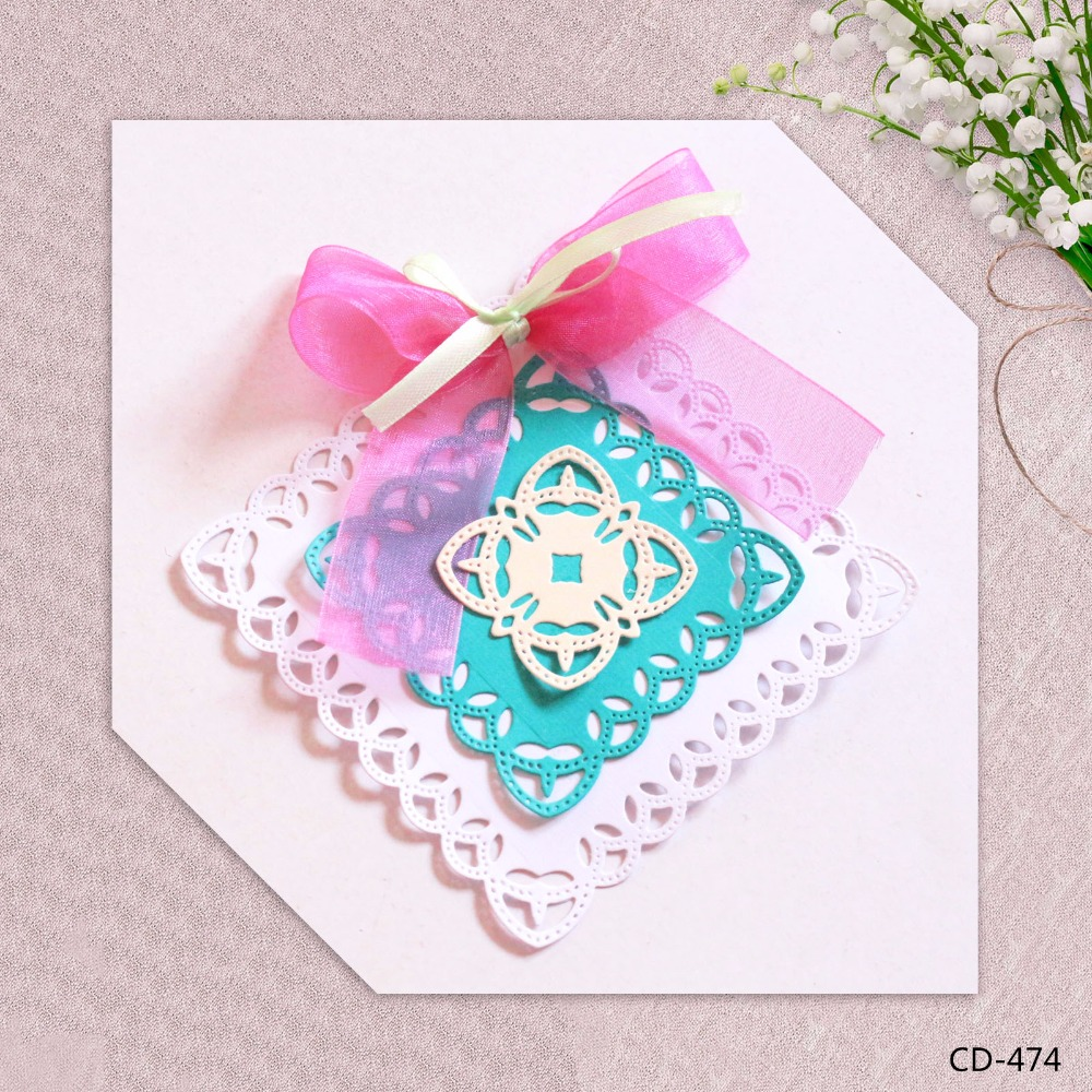 Zhuoang Metal Cutting Dies Beautiful Decorative Pattern Seal for DIY Scrapbooking Photo Album Card Making DIY Decoration Supply zhuoang beautiful wooden rubber clear stamps and cutting dies set for scrapbooking photo album card making diy decoration supply
