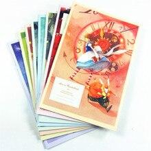 8 יח\חבילה 210*150MM החדש קוריאה Cartoon אליס & אן סדרת קראפט נייר מחברת יומן סדר יום יומן משרד ציוד לבית ספר
