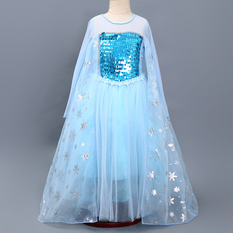 Children's Christmas Costume For Girls Cosplay Elsa Anna Princess Party Dress 3-10 years Kids Clothing Flower Girl Wedding Dress girl clothing elsa cinderella cosplay princess carnival halloween costume girl party dress beauty beast christmas 4 8 10 years