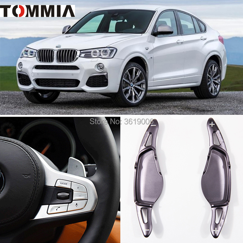 tommia 2pcs Steering Wheel Aluminum Shift Paddle Shifter Extension For BMW X4 2018-2019 Car-stylingtommia 2pcs Steering Wheel Aluminum Shift Paddle Shifter Extension For BMW X4 2018-2019 Car-styling