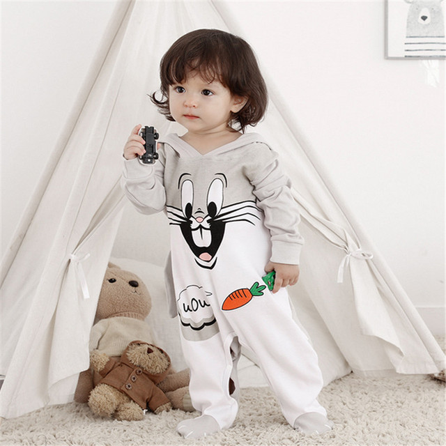 Petelulu Newborn Baby Rabbit Footies Boy Girl Cute Wrap Up Clothes