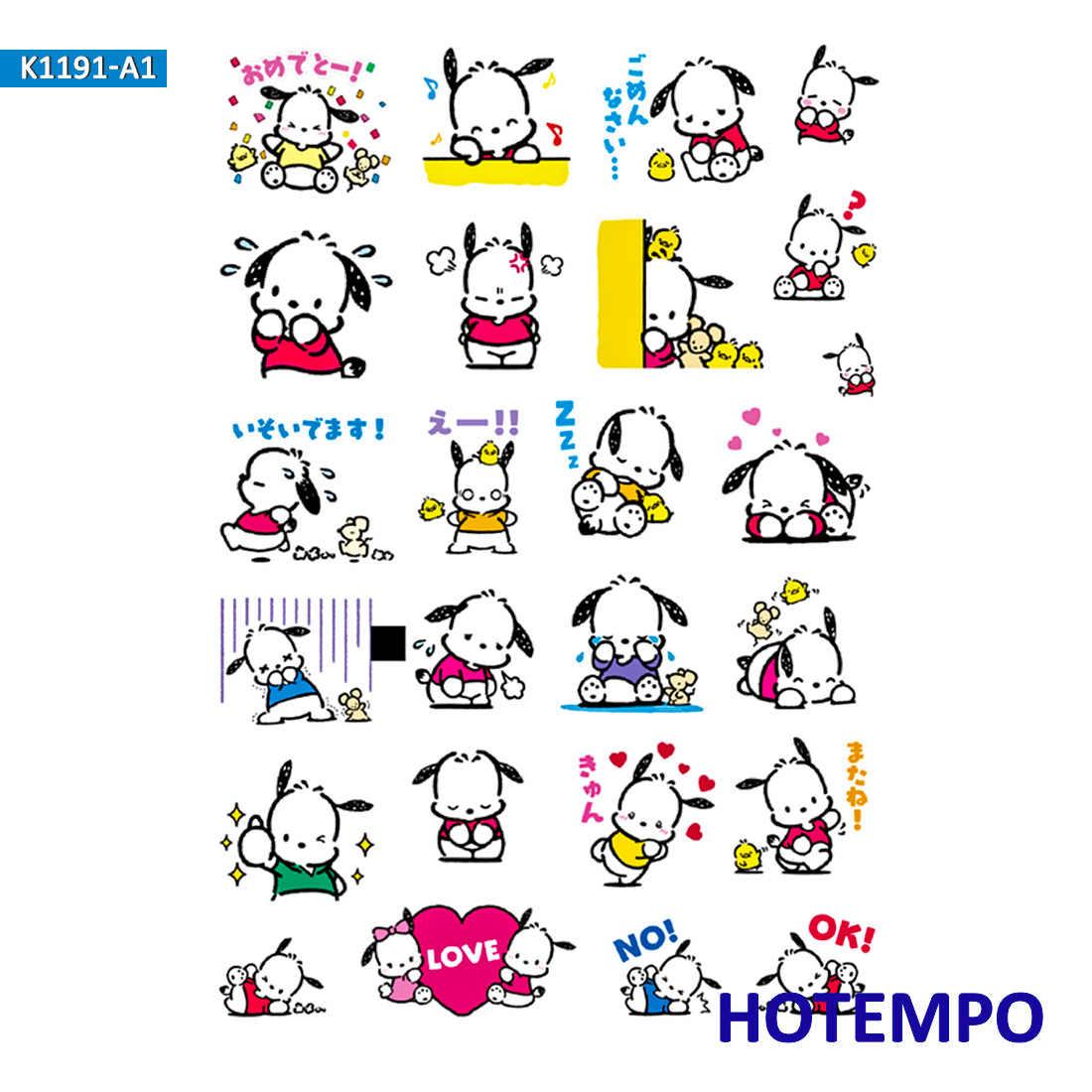 Anime pochacco cão dos desenhos animados bonito adesivos para a menina crianças presente diy carta diário scrapbooking papelaria pegatinas adesivos