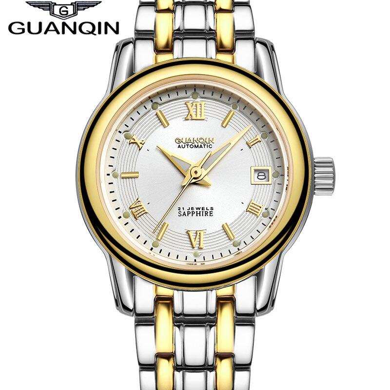ФОТО 2016 New Fashion Women Dress Wristwatch Luxury Brand Lady Waterproof Business Automatic Mechanical Watch female Clock hours