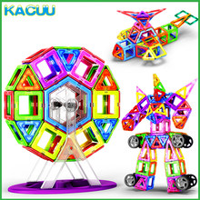 KACUU-bloques de construcción magnéticos de gran tamaño para niños, diseñador magnético, 19-125 Uds.