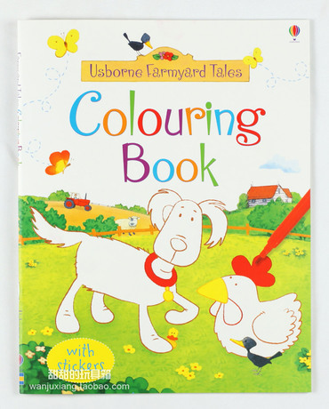 usborne colouring book about color pictures children learn words and coloring baby learning and education book - Usborne Coloring Books