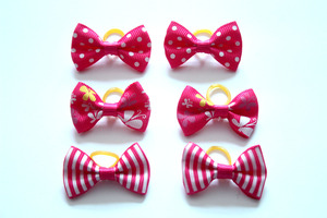 Image 3 - 200 cái/lốc pet dog tóc cung cao su bands pet dog grooming bows hồng hoa hồng đỏ cho cô gái phụ kiện tóc con chó grooming sản phẩm