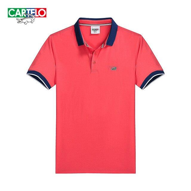 cartelo brand new 2016 summer men's short-sleeved T-shirt men's business men POLO shirt Slim British style