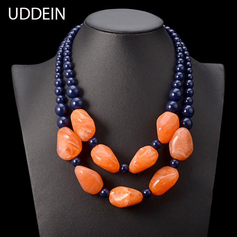 UDDEIN bohemian maxi necklace w
