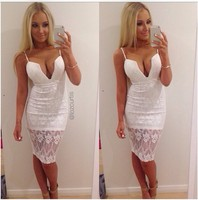 Knee dress sexy party club beach casual short white sleeveless sundress backless lace female summer best selling 2018 product