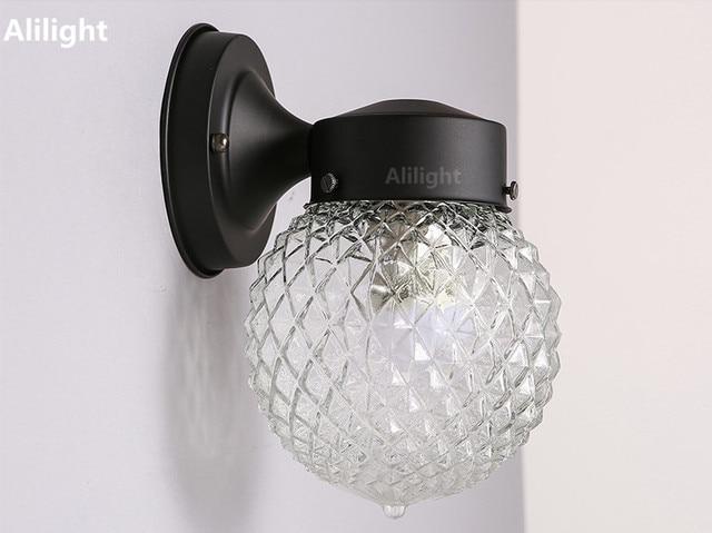 Americano rustico ferro lampada da parete a led per bagno camera da
