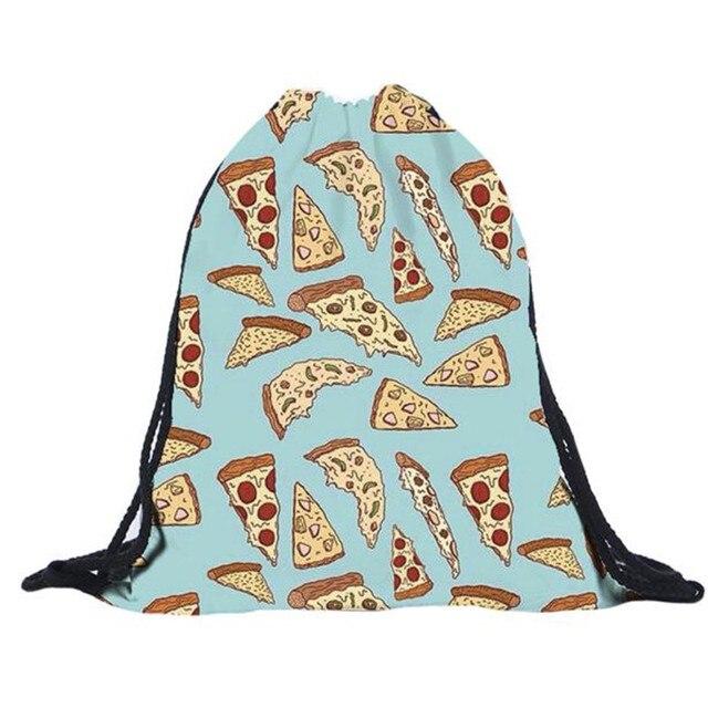 Top Quality Womens Daypacks Printing Bag For Beach Mochila Feminina  Harajuku Drawstring Bag Mens Backpacks Galaxy