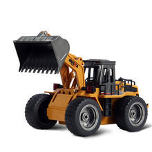RC Car Electric Excavator Remote Control Toys Engineering Car Toy Alloy Electronic Remote Control RC Forklift Truck For Boys Kid