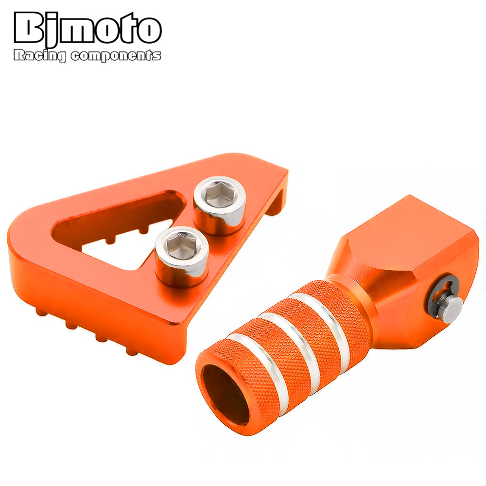 Rear Brake Pedal Step&Gear Shifter Lever Tips Set For KTM SX EXC XCF XC XCW SXF EXCF SMR LC4 Enduro 125 250 300 350 400 450 500 orange billet rear brake pedal step tip for ktm 125 530 690 950 990 sx exc xcf sxf xc xcw excf excw excf duke adventure