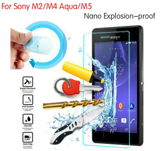 3x Newest Nano Explosion-proof Screen Protector Guard Foil Cover Film For Sony Xperia M4 Aqua M2 M5 Not Tempered Glass