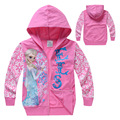 Free Shipping new style Foreign trade clothing frozen girls hoodies Hoodie Zip up  generation fat children