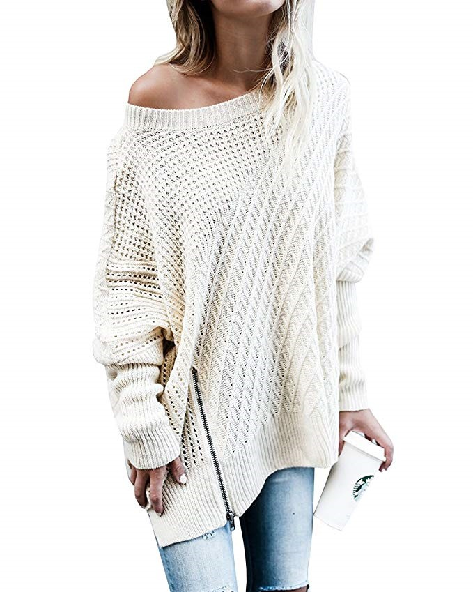 Women 'S Pullover O Neck Batwing Sleeve All Match Knitwear 2018 Autumn And Winter New Style European And American Street Fashion