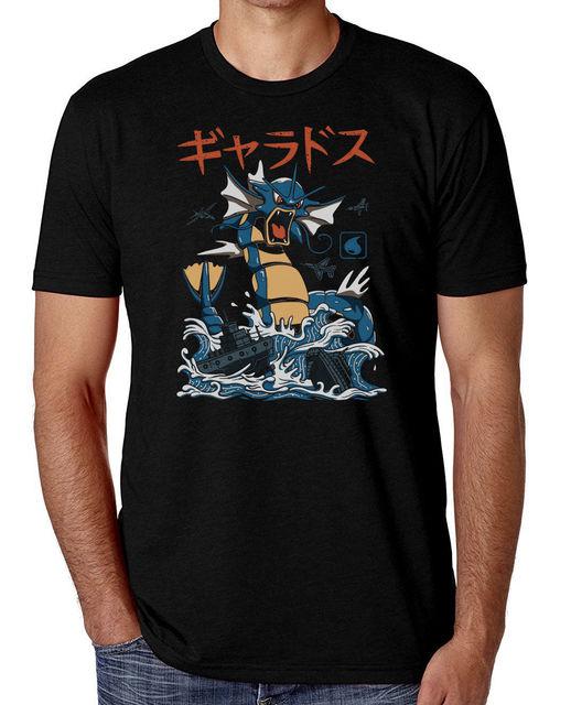 7b55f217be1 ... 3xl  gyarados kaiju an style pokemon t shirt men s comedy t shirt 100  pokemon  go ...