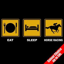 Eat Sleep HORSE  Stable Hand Gambling Funny T-Shirt 16 Colours - to 5XL New T Shirts Tops Tee Unisex