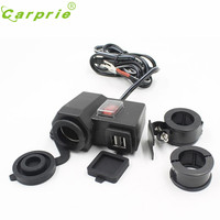 Waterproof Motorcycle Accessory Scooter 12V 2 1A USB Charger Function Without Cigarette Lighter Socket Jy2