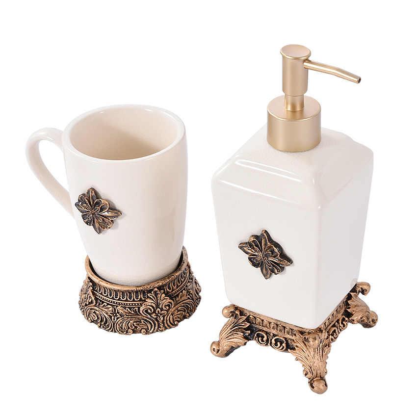 Europejski ceramiczne łazienka pięć sztuk zestawy łazienka dostarcza kreatywny szczotka kubki płyn do płukania jamy ustnej puchar łazienka zestaw do mycia New Arrival Hot