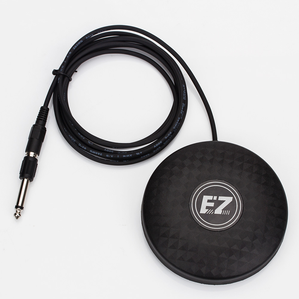 EZ Pro-design Solid Tattoo Foot Pedal Round Foot Switch connection cable with cinch plug for power supply free shipping cтеппер bs 803 bla b ez