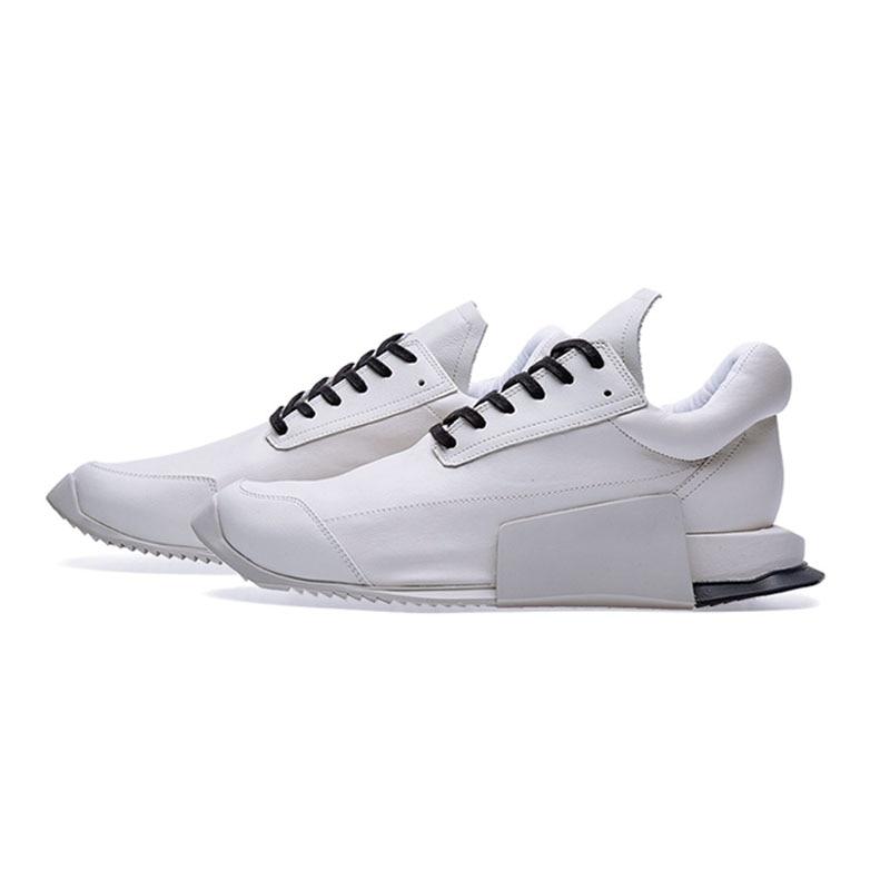Stile europeo Low Top Sneakers In Pelle per Gli Uomini di Moda di Lusso Del Merletto di Bianco Naturale Up Casual Outddor Scarpe di Cuoio A Piedi Degli Uomini-in Scarpe casual da uomo da Scarpe su  Gruppo 2