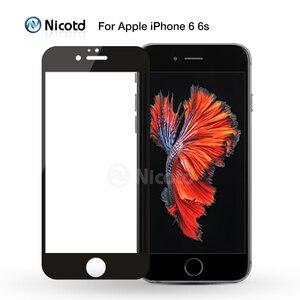 Image 2 - Закаленное стекло с полным покрытием для iPhone 7, 6, 6S Plus, 2.5D, защитная пленка для экрана iphone X, 8, 7 Plus, защитное стекло, черный, белый