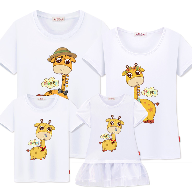 family look Mother daughter Dresses family t-shirts father son mom matching clothes fashion summer casual cotton Couple outfits
