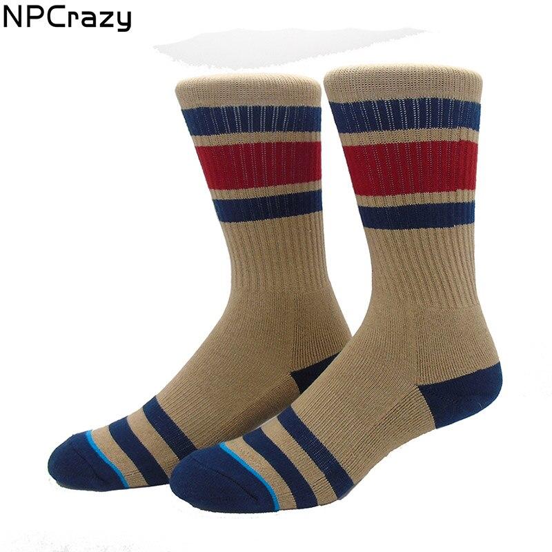 New Khaki Strip Socks Sport Terry Thermal Socks Snowboard Towel Bottom Winter Warm Skiing Socks Men