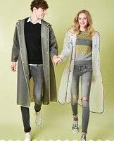 성인 남성 여성 긴 EVA 두꺼운 비옷 범용 레인 코트 방수 판쵸 하이킹 투어 비옷 후드 무료 배송