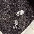 2016 Fashion hot 925 Sterling Silver Bohemia Indian Feather Dream catcher Dreamcatcher Earrings tassel earrings For Women