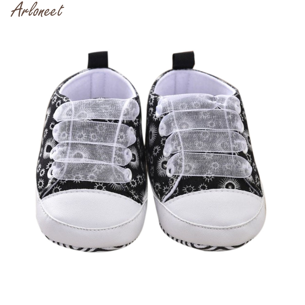 2017 new Toddler Kids Baby Girls Printing Bandage Canvas Shoes Newborn Shoes high quality