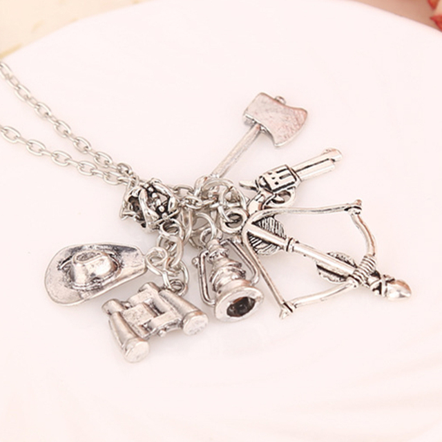 The Walking Dead Bow-Gun-Axe Pendant