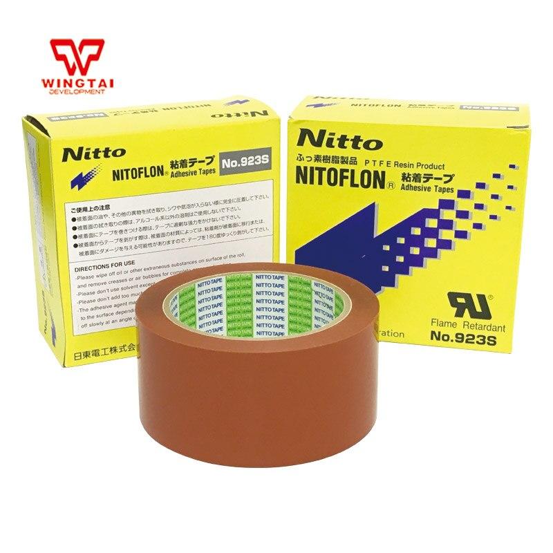 T0.10mm*W50mm*L33m Orange NITTO 923S PTFE Nitoflon Adhesive Heat Resistance Tape 3 pcs lot nitoflon adhesive tapes 923s t0 10mm w50mm l33m