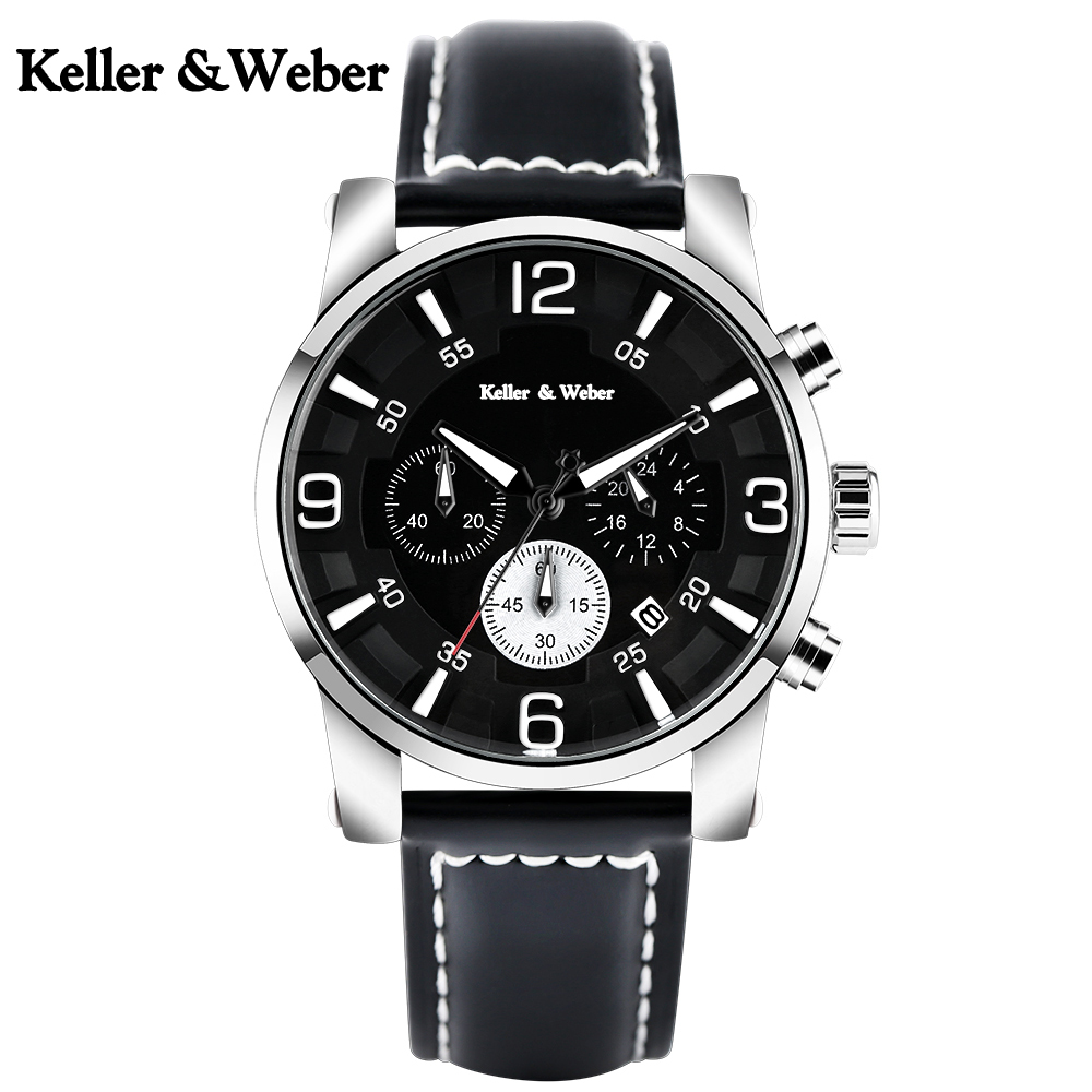 Men Watch Waterproof Sport Wrist Chronograph Quartz Watches Day Date Genuine Leather Stop Analog for Man Clock Relogio Masculino superior xinew mens fashion silica sport date calendar chronograph analog quartz wrist watch relogio masculino waterproof sep 14