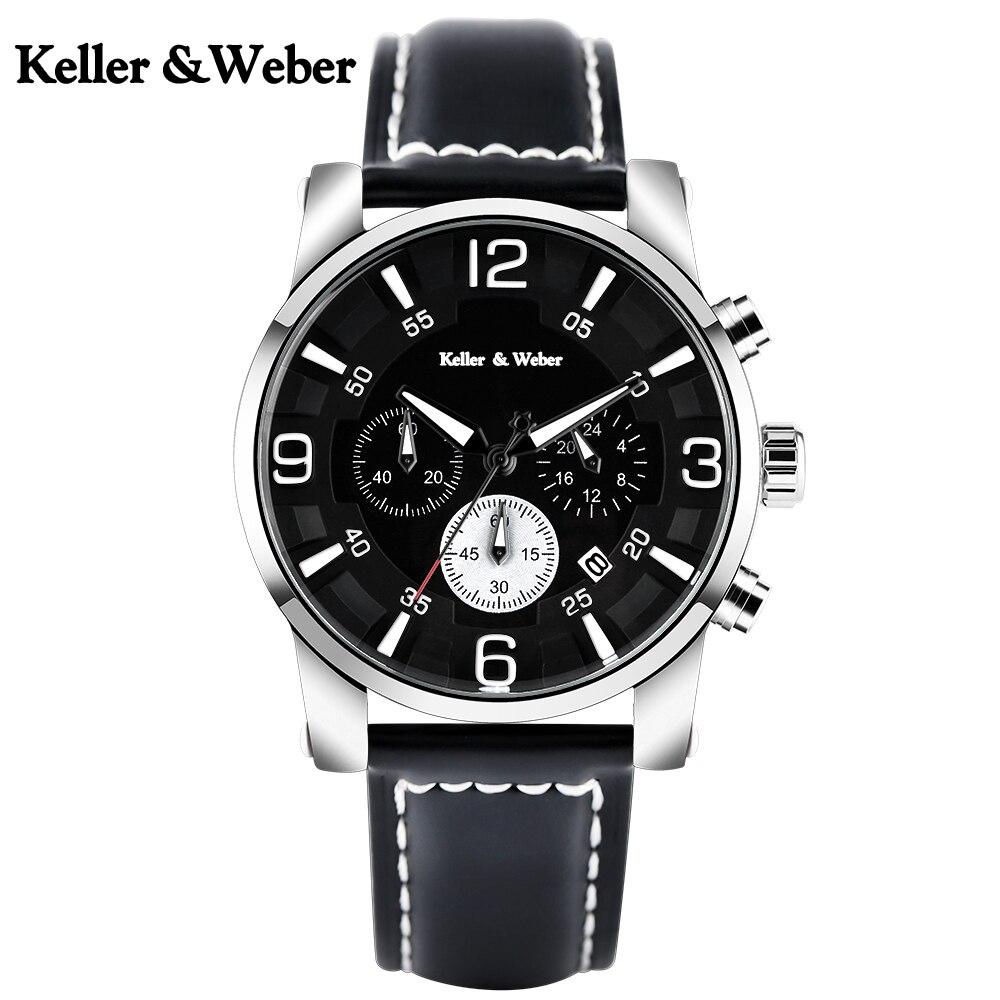 Men Watch Waterproof Sport Wrist Chronograph Quartz Watches Day Date Genuine Leather Stop Analog for Man Clock Relogio Masculino цена и фото
