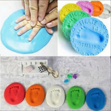 1pc Baby Hand Print Footprint Clay Imprint Kit Casting Baby Air Drying Soft Clay Parent-child Hand Ink Pad Fingerprint Memory(China)