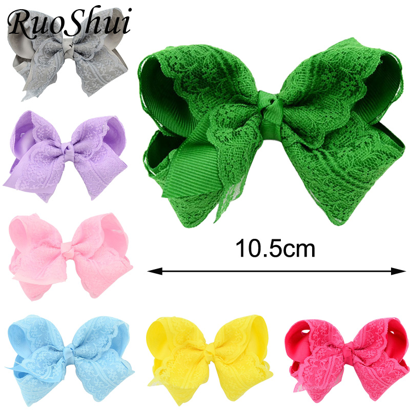 1 Pc Elegant Flower Lace HairPins Hair bows For Younger Kids Newborn Girl Ribbon Bowknot Hair Clips   Headwear