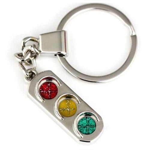 New Mini Traffic Light Car Key Ring Chain Classic 3D Keyfob Keychain Gift