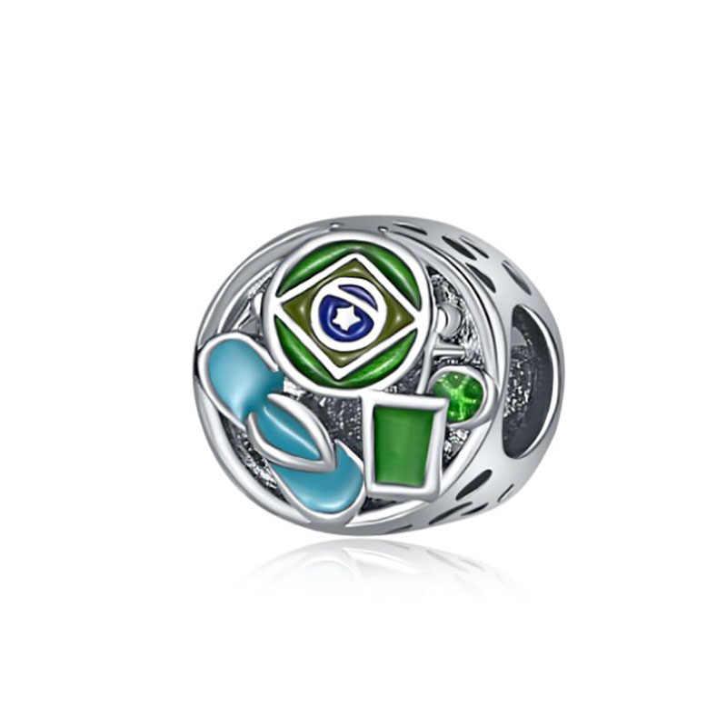 Phù hợp với Pulsera Pandora Charm Bạc Plata De Ley 925 Nguyên Bản Vòng Tay Hạt Breloque Đổ Chế Tạo BIJOUX Trang Sức Quyến Rũ