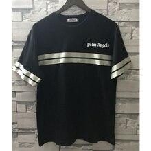 2019 nueva Palm ángeles camiseta Streetwear Skateboard rayas Palm ángeles  Tee de los hombres casuales de 075a35b99c787