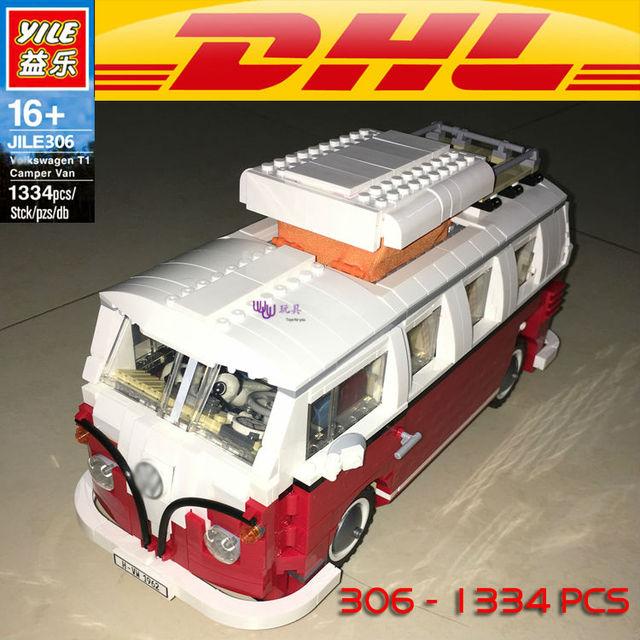 CLÁSICO: Yile 306 Creador Volkswagenn T1 Camper Van modelo Building Blocks Compatible legoe 10220 LEPINs 21001 de Regalo de Navidad