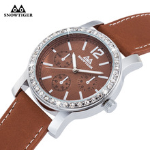 Wristwatch Mens for Diamond Watch Men Top Brand Luxury Famous Male Clock Leather Wrist Watch Quartz
