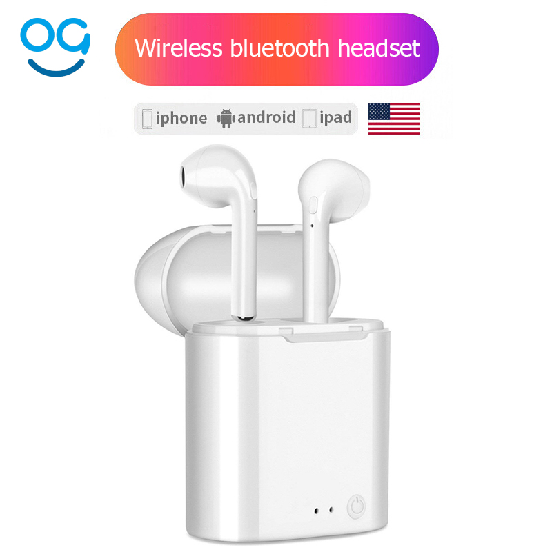 I7 I7S Mini Twins Bluetooth Earphones wireless headphones In-Ear Earbuds sport headset stereo For apple iPhone xiaomi Air pods цена 2017