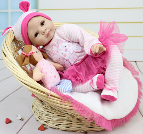2016 Silicone Reborn Baby Doll Toy Interactive-Doll Princess Pink Rabbit Babies Reborn Play House Toys For Child Girl Brinquedos2016 Silicone Reborn Baby Doll Toy Interactive-Doll Princess Pink Rabbit Babies Reborn Play House Toys For Child Girl Brinquedos
